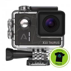 "Lamax X10 - Wideo 4K 30fps, FULL HD 120fps, HD 240fps, PILOT ZDALNEGO STEROWANIA, STABILIZACJA. WiFi, 2"" LCD, film i zdjęcia"