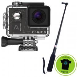 Kamera Sportowa LAMAX X10 Taurus + AKCESORIA + Monopod 110cm (kijek)
