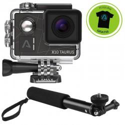 Kamera Sportowa LAMAX X10 Taurus + AKCESORIA + Monopod 70cm (kijek)