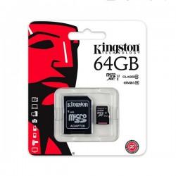 Karta pamięci Kingston MicroSDHC 64GB UHS-I U1 (45MB/s) + adapter (SDC10G2/64GB)