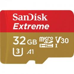 KARTA SANDISK EXTREME microSDHC 32 GB 100/60 MB/s A1 C10 V30 UHS-I U3 Mobile