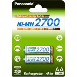 PANASONIC AKUMULATOR R6/AA Ni-MH 2700 mAh - 2 szt blister