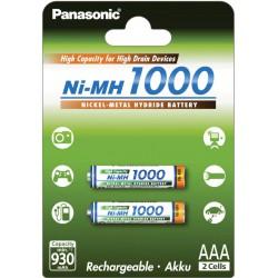 PANASONIC AKUMULATOR R03/AAA Ni-MH 1000 mAh - 2 szt blister