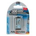 Ansmann Akumulator NiMH Rechargeable battery 9V block / 6F22 Typ 300 max 1 pcs.
